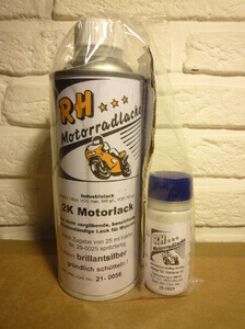Motorlack Brillantsilber - Engine paint silver gray