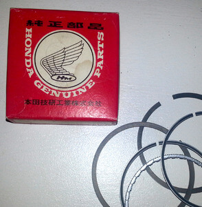Kolbenringe Honda CB400F original neu 0.50 - piston ring